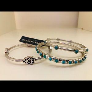 Lucky brand silver/blue bracelet